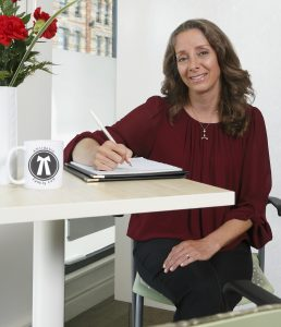 Elizabeth Goldenberg Downtown London Ontario family law lawyer at her office, Affordable Family Law
